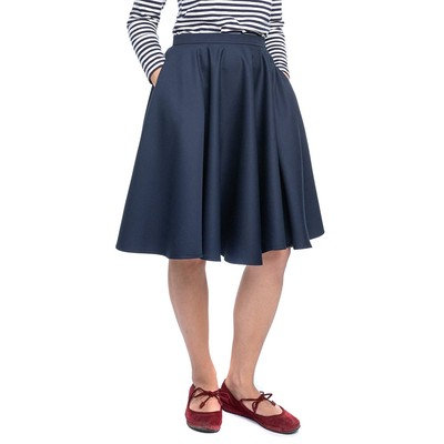 Jämä Circle Skirt, Blue, Small (36)